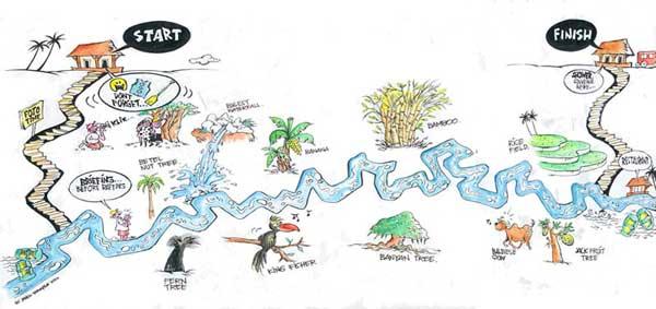 Bali Sobek Rafting Ayung River Map