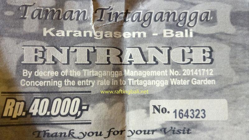 Tirta Gangga Entrance Fee Ticket