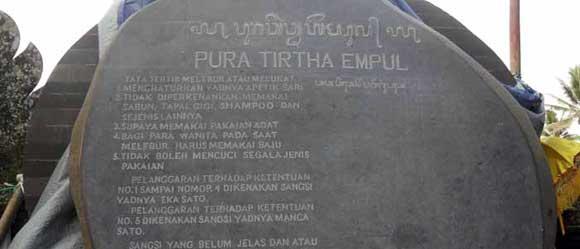 History of Tirta Empul Tampak Siring Spring Water Temple