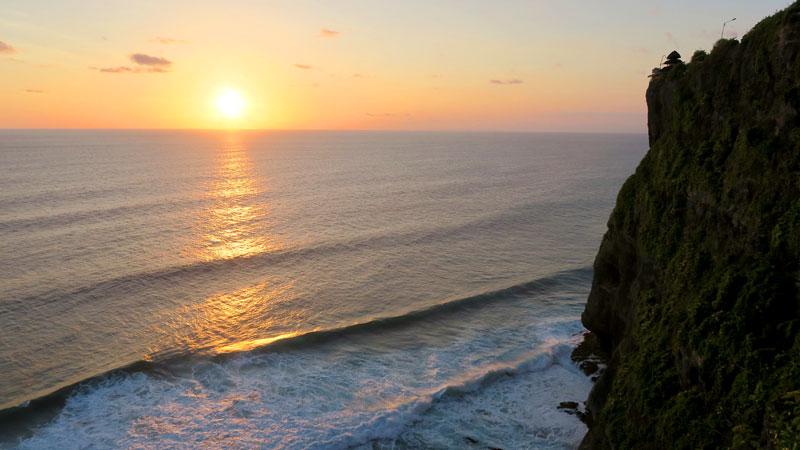 Indian Ocean Sunset View From Uluwatu Cliff Bali