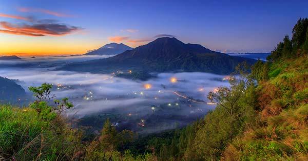 Bali Beautiful Fog Scenery