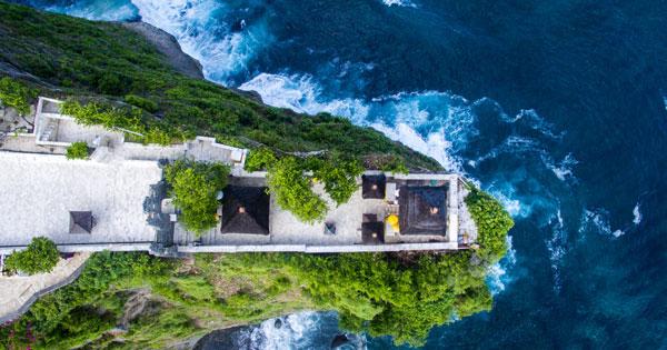 Aerial View Uluwatu Temple Bali