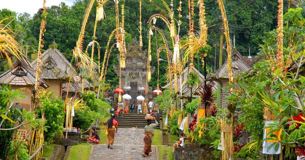 Penjor At Pengelipuran Village Bali