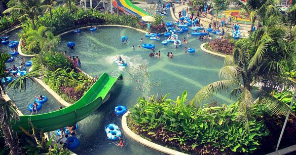 Main Swimming Pool Circus Water Park Kuta