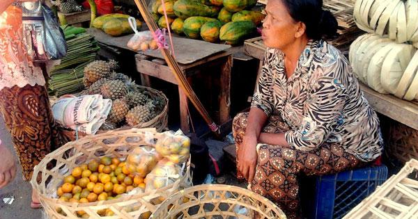 Kintamani Bali Traditional Market Shopping Activities