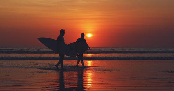 Kuta Beach Bali Sunset