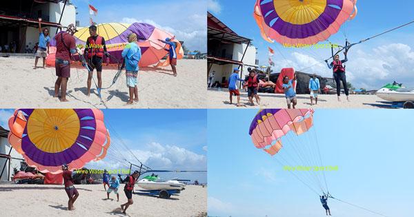 Single Parasailing In Tanjung Benoa Bali