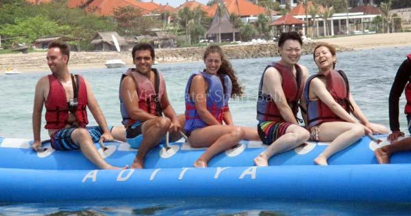 Banana Boat Ride In Tanjung Benoa Beach