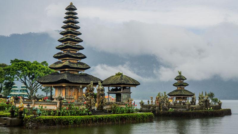 Ulun Danu Temple in the Middle of Lake Beratan Bedugul Bali