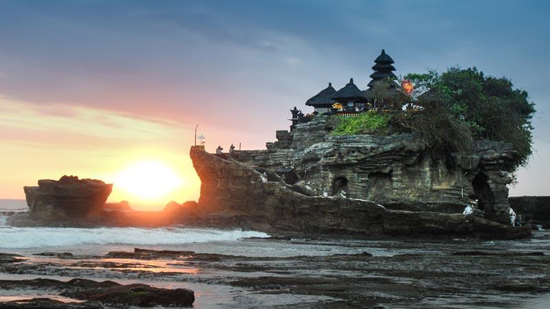 Tanah Lot Bali Temple Sunset
