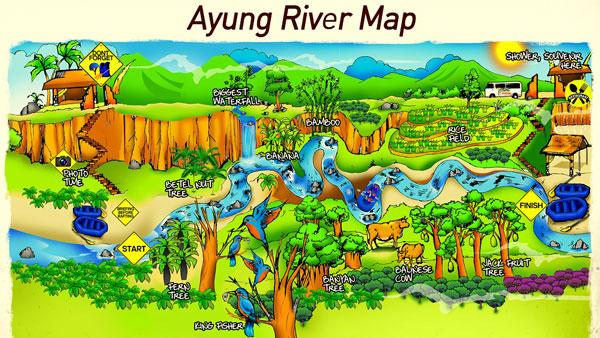 Sobek Ubud River Rafting Map